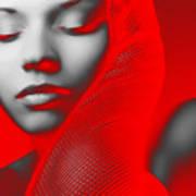 Red Beauty  Art Print
