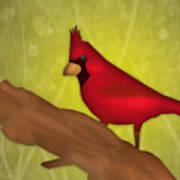 Red Bird Print by Melisa Meyers