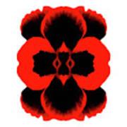 Red Black Botanical Summer Art Print