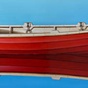 Red Boat Art Print by Horacio Cardozo