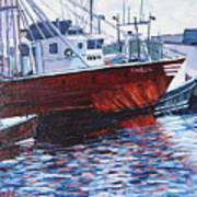 Red Boats Art Print