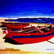 Red Boats Art Print