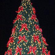 Red Bow Tree Art Print