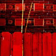Red Brick And Sticks Art Print