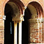 Red Brick Archway Soft Art Print