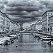 Red Bridge Canal Art Print