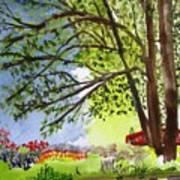 Red Brtdge Art Print