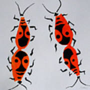 Red Bugs Art Print
