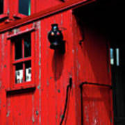 Red Caboose Print by Scott Hovind