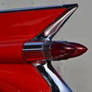 Red Cadillac Fin Art Print