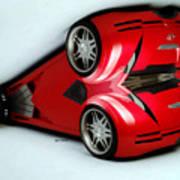 Red Car 007 Art Print