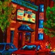 Red Car Blue Sky Art Print