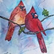 Red Cardinals Art Print