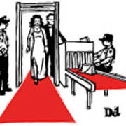 Red Carpet Security Art Print