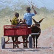 Red Cart Art Print