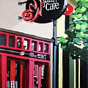 Red Cat Jazz Cafe Art Print