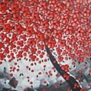 Red Cherry Tree Art Print