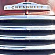 Red Chevrolet Grill Art Print