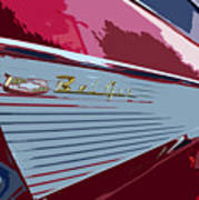 Red Chevy Art Print