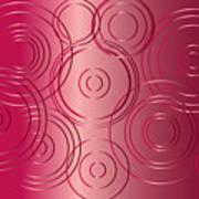 Red Circle Background Art Print
