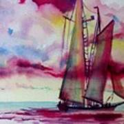 Red Cloud Sail Art Print