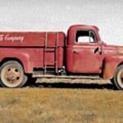 Red Coke Truck Art Print
