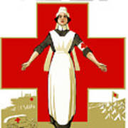 Red Cross Nurse - Help Art Print