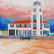 Red Cross Lifeguard Station Art Print