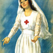 Red Cross Nurse - Ww1 Art Print