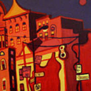 Red Cruising Baltimore Art Print