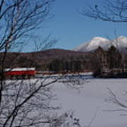 Red Dam And Percy Peaks In Winter Art Print