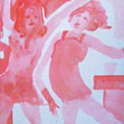Red Dance Art Print