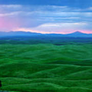 Red Dawn Over The Palouse Print by Mike  Dawson