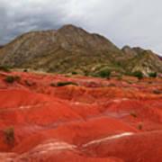 Red Desert Landscape Torotoro National Park Bolivia Art Print