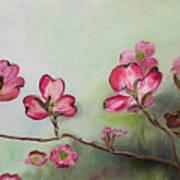 Red Dogwood - Cherokee - Springtime Art Print
