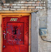 Red Door 325  Art Print