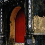 Red Doorway Art Print