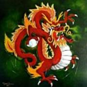 Red Dragon Art Print