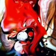 Red Drape Art Print