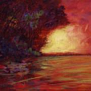 Red Dusk Art Print