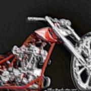 Red Embossed Custom Art Print