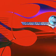 Red F-100 Art Print