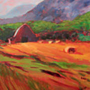 Red Farm Art Print