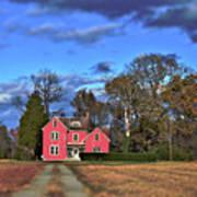 Red Farm House Art Print