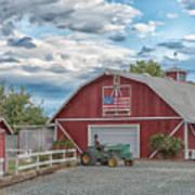 Red Flag Barn Art Print