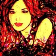 Red Flirt Art Print