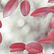 Red Foliage. Silver Light Art Print