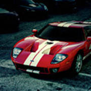 Red Ford Gt Art Print