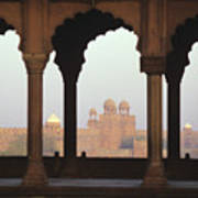 Red Fort From The Jama Masjid Art Print