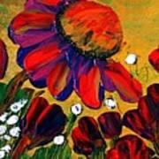 Red Garden Art Print